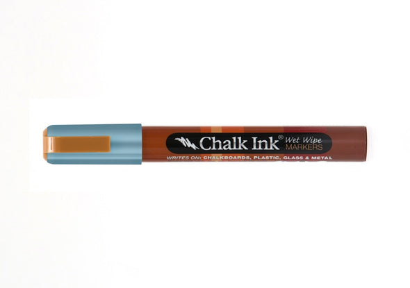 Chalk Ink® Metallic Electric Blue 6mm Chisel Tip Wet Wipe Marker