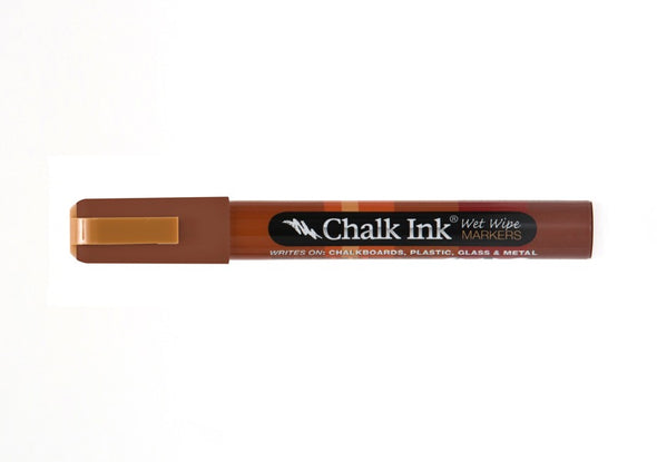 Chalk Ink® Teddy Bear Brown 6mm Chisel Tip Wet Wipe Marker