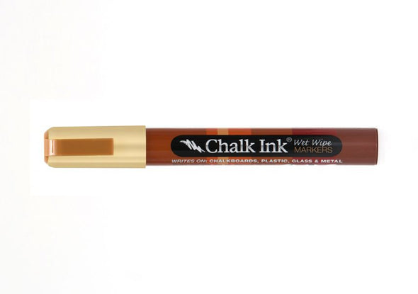 Chalk Ink®  Champagne Metallic 6mm Chisel Tip Wet Wipe Marker