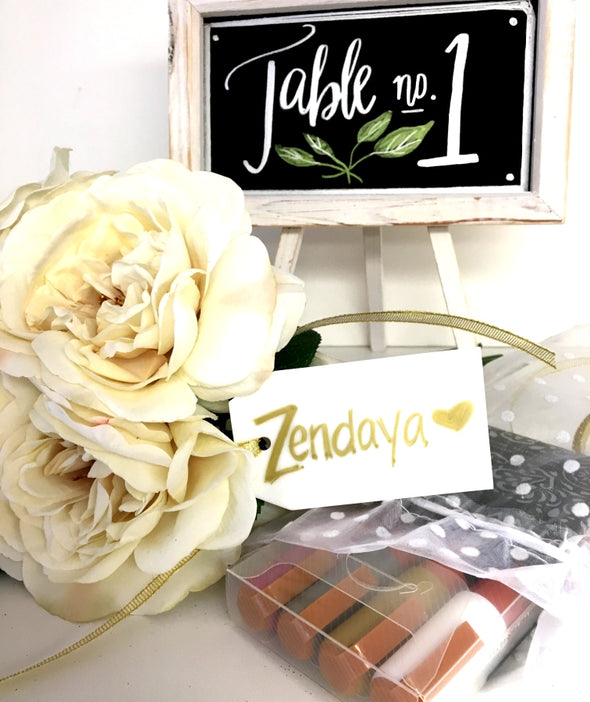 Wedding Bundle + Invite Pack + Gold Ribbon + Clear Tags + Organza Bag