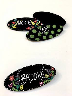 Oval Chalkboard Name Tags - set of 5