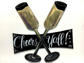 Wine Glasses Chalkboard