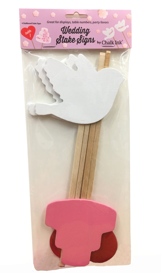 Wedding Stake Signs set of 4 Assorted