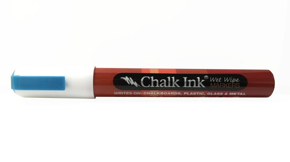 NEW 2mm Chalk White Bullet Tip Wet Wipe Marker