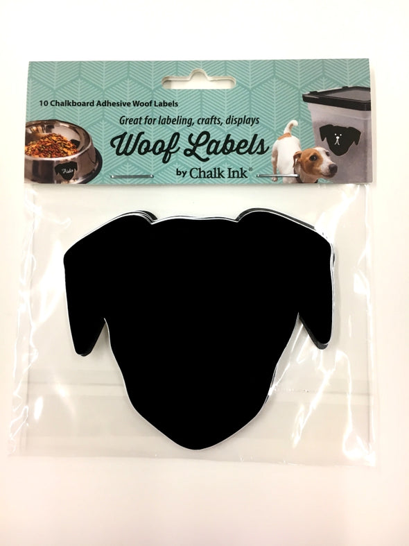 Woof Chalkboard Labels, Set of 10