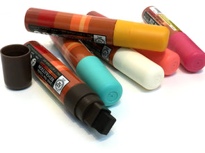 Broad tip chalk ink marker set of retro colors