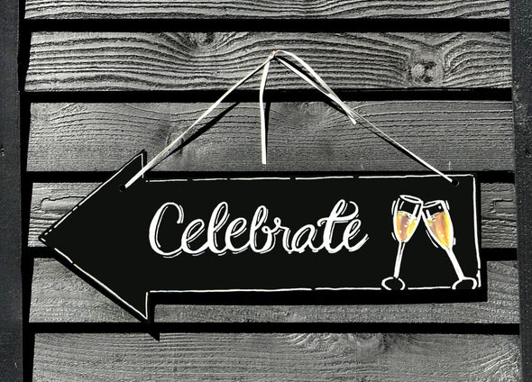 "Image of the product 7.5"" x 28.5"" Left Arrow Chalkboard"