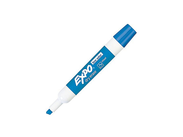 Expo Dry-Erase Blue Chisel Tip