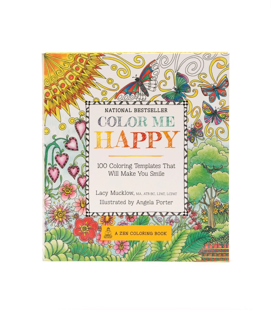 - Color Me Happy Coloring Book - Art Supplies Chalk Ink Markers