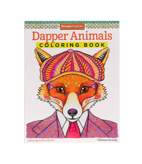 Image of the product Dapper Animals Coloring Book