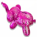 Image of the product Elephant Balloon Money Bank in Pink + 6pk Classic