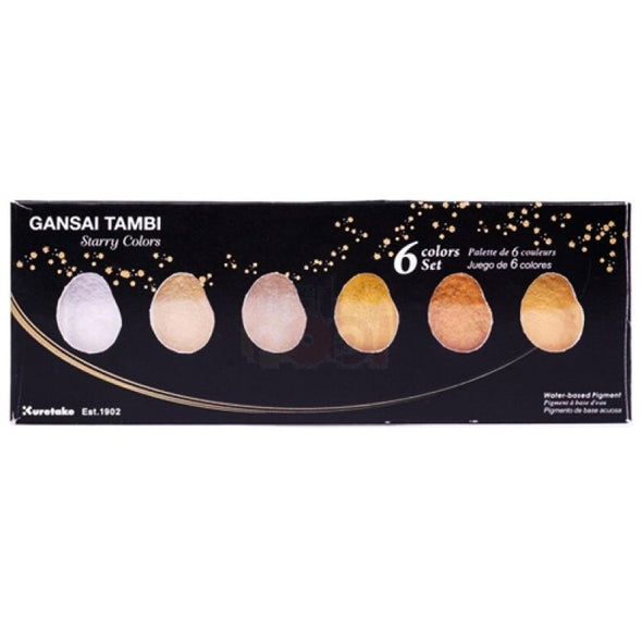 Image of the product Gansai Tambi Starry Colors Watercolors, Set of 6 Colors