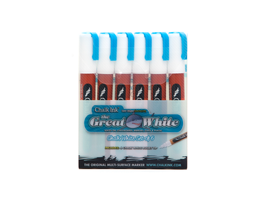 6mm Great White 6 Pack Wet Wipe
