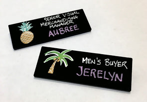 Chalkboard Name Tags - set of 5