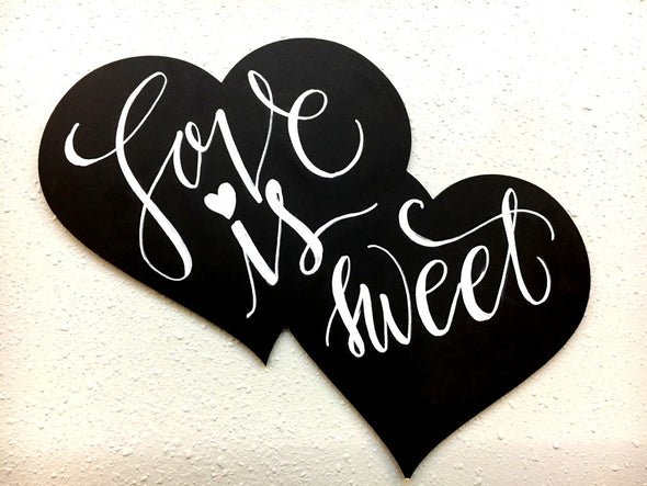 Double-Hearts Chalkboard