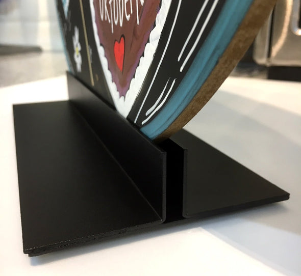 Steel Countertop Sign Holder Black