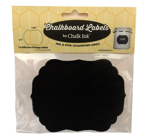 Adhesive Vintage Chalkboard Labels, Set of 10