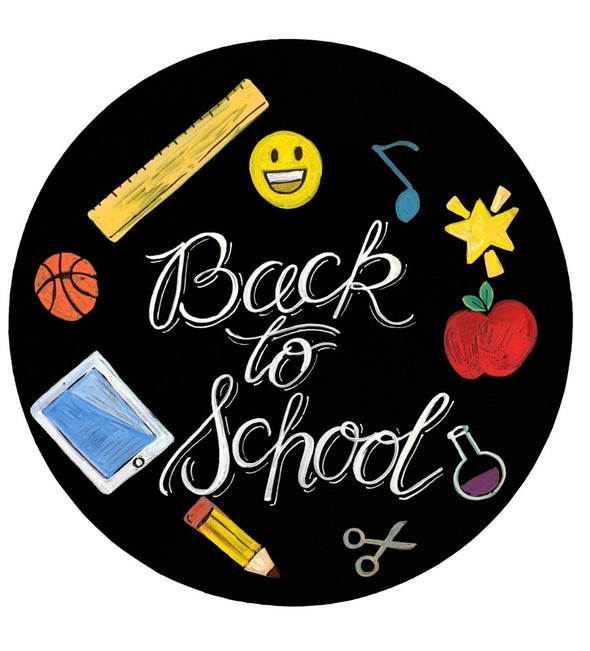 "Image of the product 15"" diameter Chalk Ink Circle Black Chalkboard"