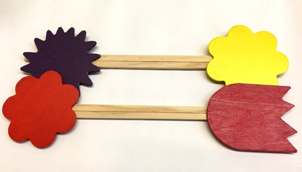 Floral Stake Signs set of 4 Assorted