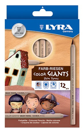 Image of the product Lyra Color Giants Skin Tones Pencils