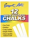 Image of the product Sargent Art White Dustless Chalk 12 Pack