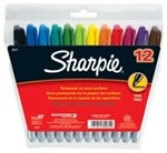 Image of the product Sharpie Fine Tip 12-pack Multicolor
