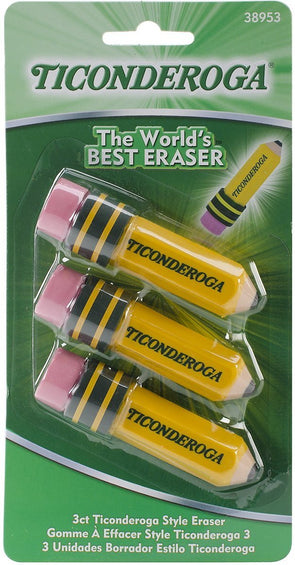 Image of the product Ticonderoga Pencil Shaped Eraser