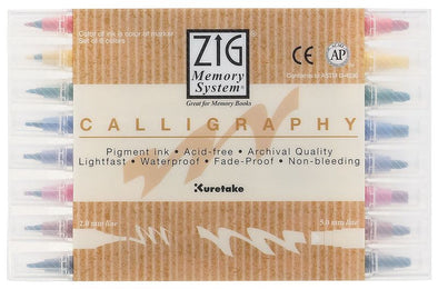 Image of the product Zig 5mm nib Calligraphy Markers, Set of 8 Colors