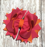 Hot Pink and Orange Boutique Hair Bow