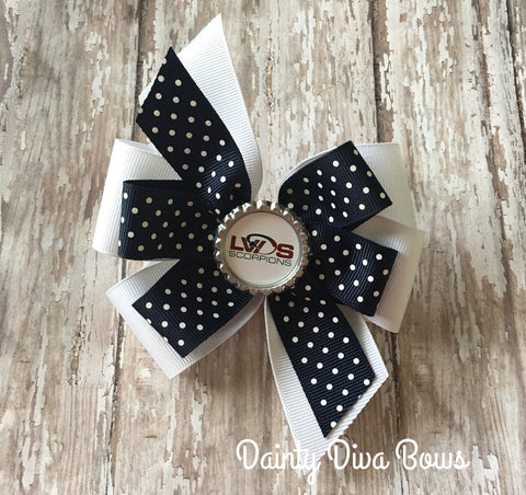 LVDS - Double Pinwheel Bottlecap Hair Bow