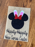 Disney Easter Burlap Garden Flag