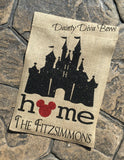 Personalized Disney Castle Garden Flag