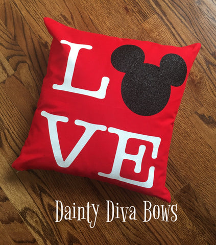 Disney Love Throw Pillow Cover - 18x18