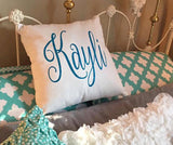 Personalized Monogram Throw Pillow Cover - 18x18