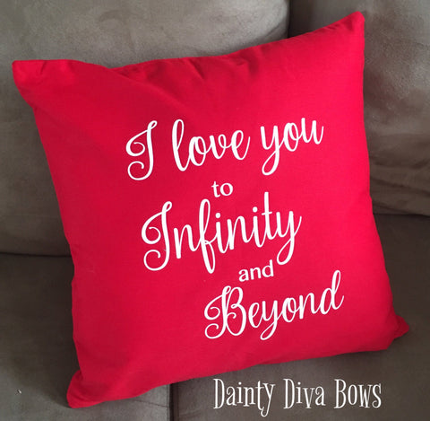 Love Infinity and Beyond Throw Pillow Cover - 18x18