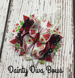 Watermelon Print Hair Bow