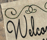 Welcome Y'all Burlap Garden Flag