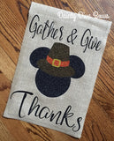 Disney Thanksgiving Burlap Garden Flag