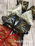 FOUR Colors - Large Gold Foil Swirl Cheer Bow