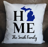 My Home Custom Throw Pillow Cover - 18x18