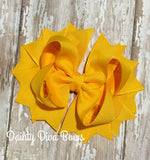 Classic Mustard Yellow Hair Bow