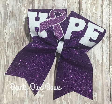 Pancreatic Cancer Awareness Cheer Bow