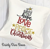 Christmas Tree Design Throw Pillow Cover - 18x18