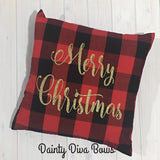 Buffalo Plaid Christmas Thrown Pillow Cover - 18x18
