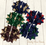Back to School Hair Bows - Private School - Navy Bows - Khaki Bows