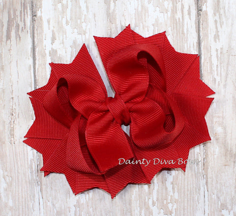 Classic Red Hair Bow