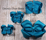 Solid Boutique Hair Bow - MEDIUM SIZE - 3.5 Inch Bow - 30 Colors