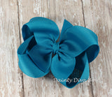 Solid Boutique Hair Bow - LARGE SIZE - 4 Inch Bow - 30 Colors
