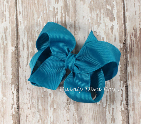 Solid Boutique Hair Bow - SMALL Size - 3 Inches - 30 Colors