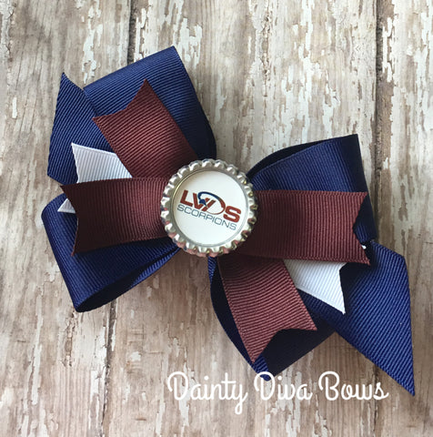 LVDS - Tails Out Logo Bottlecap Bow